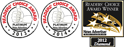 Readers' Choice Award Winner - The News Advertiser - Ajax/Pickering - 2012 Diamond Award