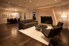Custom builder home staging